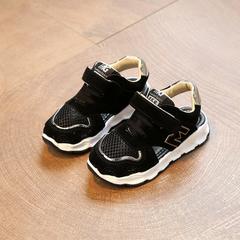 Boys'Sandals 2019 New Summer Girls' Hollow Air-permeable Sports Sandals Children's Beach Shoes black 21