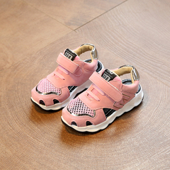 Boys'Sandals 2019 New Summer Girls' Hollow Air-permeable Sports Sandals Children's Beach Shoes pink 28