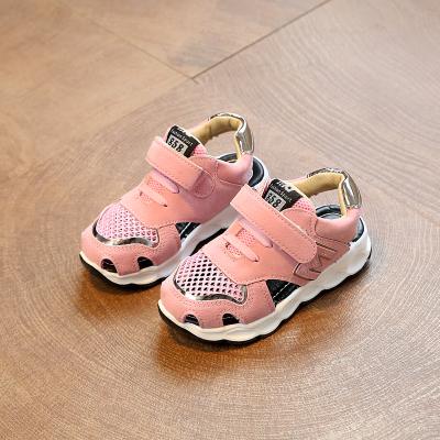 Boys'Sandals 2019 New Summer Girls' Hollow Air-permeable Sports Sandals Children's Beach Shoes pink 28