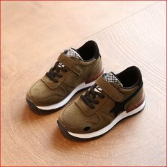 Girls'Shoes Spring and Autumn New Boys' Shoes Children's Casual Shoes 5-7 Years Old in Soft Bottom Army green 22