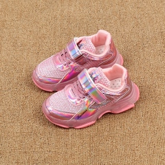 Children's sneakers Summer 2019 new mesh breathable girl's daddy shoes mesh Shoes Boys net red shoes silvery 27