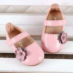 2019 New Soft-soled Baby Walking Shoes, Girls, Infants, Princess Shoes, Single , Small Leather Shoes pink 16