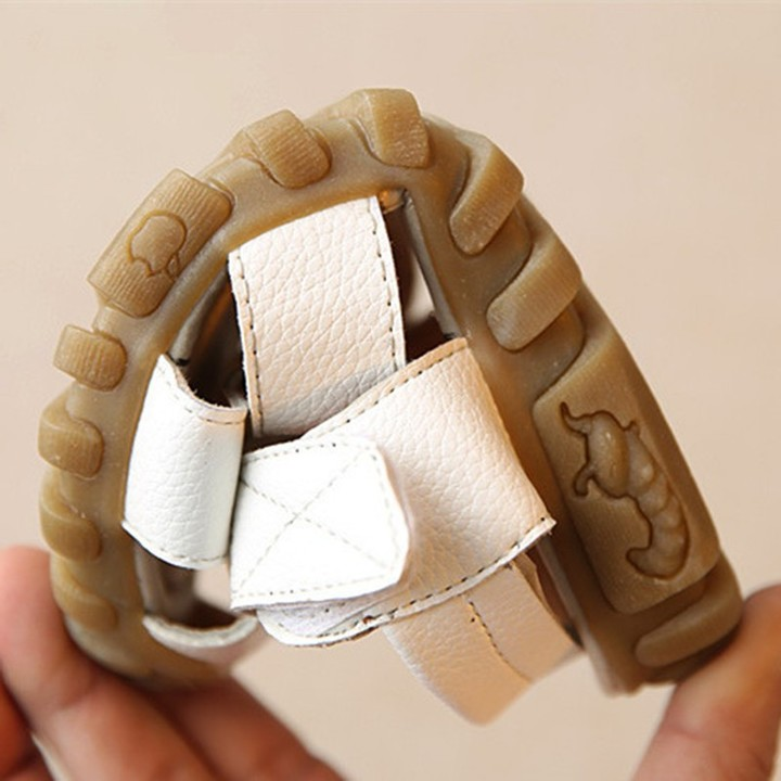 Children's shoes, beach shoes, sandals for boys and girls,Student shoes, Leather Sandals white 20