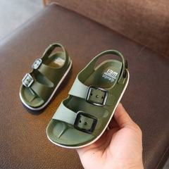 Summer 2019 boys shoes England 1-4 years old baby children's sandals children's non-slip sandals Green 24