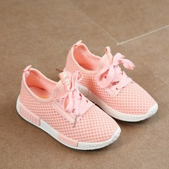 Kids Shoes 2019 Fashion Mesh Casual Children Sneakers For Boy Girl Toddler Baby Sport Shoe pink 26