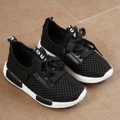 Kids Shoes 2019 Fashion Mesh Casual Children Sneakers For Boy Girl Toddler Baby Sport Shoe black 36