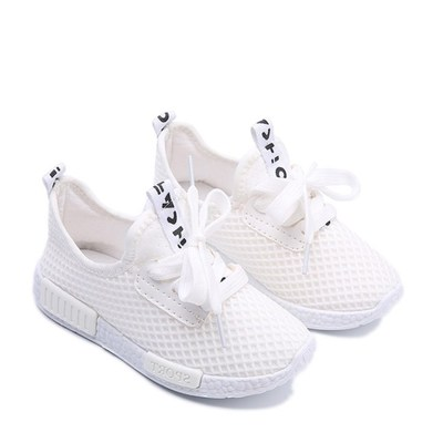 Kids Shoes 2019 Fashion Mesh Casual Children Sneakers For Boy Girl Toddler Baby Sport Shoe White 34