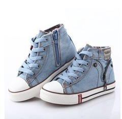 2019 Canvas Children Shoes Sport Breathable Boys Kids Shoes for Girls Casual Child Flat Boots Light blue 28