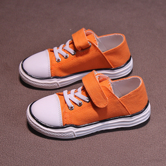 New Girl Canvas Shoes of 2019,Children's cloth shoes, sandals,Children's Shoes in Boys'Leisure Shoes Orange 26