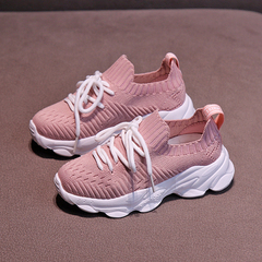 Boys'and Girls' Sports Shoes,New Children's Shoes,Baby's breathable leisure shoes, Kids shoes pink 26