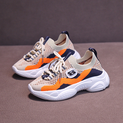 Girls'shoes,Children's Breathable Soft-soled Sports Shoes,Boys'leisure shoes,Kids shoes orange 26