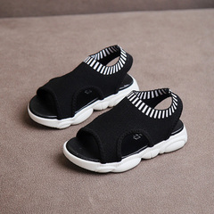 Girl sandals,New Children's shoes,Boy Beach Shoes,Kids's Shoes with Open Toes black 26