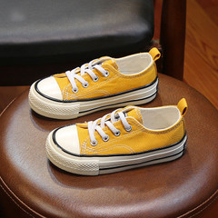 Children Shoes Sport  Boys Sneakers Kids Shoes for Girls Jeans Denim Casual Child Flat Canvas Shoes Yellow 24
