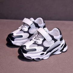Boy's Shoes New  Girls Shoes Children's Soft Bottom Breathable Shoes Kids Sports Shoes black 27