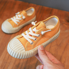 Girl canvas shoes Boy's sneakers Children's Korean Fashion Kids Anti-skid Soft Bottom shoes yellow 24