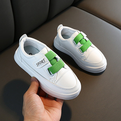 Boys and girls'Skate shoes Baby'leisure shoes Children's White Shoes Kids sports shoes Green 21