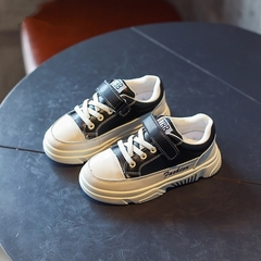 Boys and Girls Leisure Shoes 2019  Baby'sneakers Kids Student Shoes Single shoes black 26