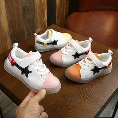 Children's sneakers Girl jelly sole sneakers Boys'leisure shoes Soft-soled baby shoes pink 26
