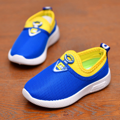Boy's shoes Girl Mesh Shoes Breathable Boy Shoes Children's sports shoes Kids shoes blue 27
