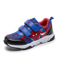 Children's Shoes Spider-Man Boy Shoes New style Baby net shoes Kids sneakers Blue 26