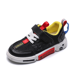 Children's sports shoes Boy's mesh breathable shoes Girls'leisure shoes Kids Skate shoes black 26