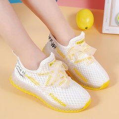Girls'sneakers and casual shoes children Coconut Shoes Baby net shoes, leisure sports  single shoes white 21