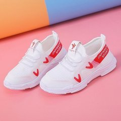 Boys and girls'net shoes Children's leisure shoes Kids sneakers Student running shoes white 27