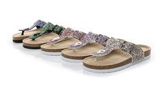 New sequins multi-color Gree PVC cork flip-flops comfortable beach shoes Black 35
