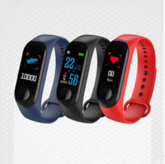 New M3 color screen smart bracelet Heart rate monitoring information push Bluetooth sports bracelet red