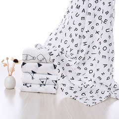 New baby wipes light and breathable bath towel 120*120 cotton children's hug star 120*120cm