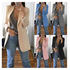 2019 European and American fashion lapel Slim cardigan temperament suit jacket female multicolor black s