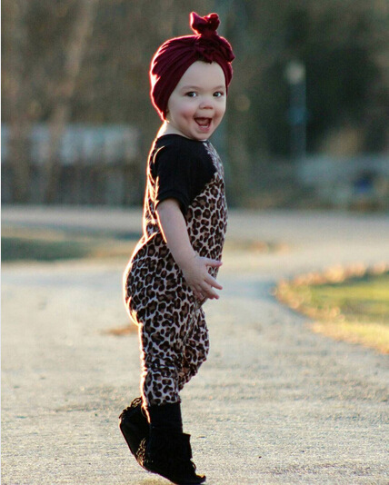 Children's clothing cotton baby bag fart leopard clothing romper baby toddler toddler clothes Photo Color 80