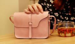 New Crossbody Shoulder Bag Ms. Bag Small Fragrance Retro Mini Square Bag PINK PICTURE