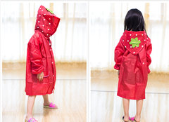Children's raincoat girl boy raincoat breathable child baby poncho with bag student raincoat RED ordinary