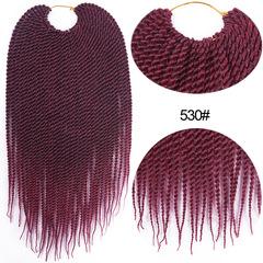 Two hand rubs fine wig senegalese twist hair 16 inch 30 530# average code