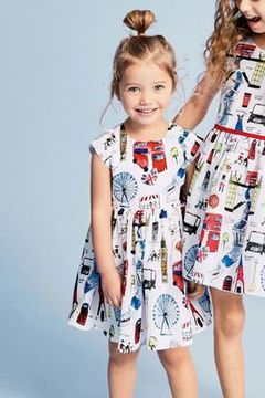 European and American cartoon cotton girls dresses picture 2T