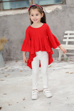 new ins explosion children's clothing children's tide baby cotton dress red 90CM