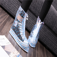 New rain boots rain boots set in the tube shoe cover women's shoes Photo Color