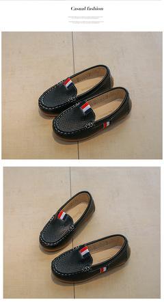 Children's peas shoes hollow boy casual shoes children's shoes show shoes black 21