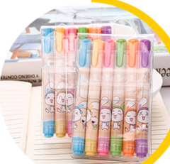 6 color highlight pen children's environmentally non-toxic learning stationery marker 6 color