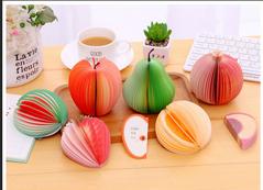Fruit shape authentic Daolin paper note pad paper stationery apple 9*10*1.5cm