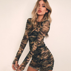 Women's new AliExpress Camouflage long-sleeved dress female s picture
