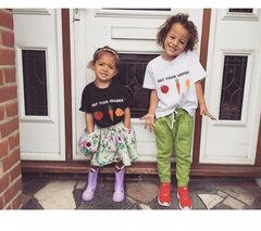 summer fruit children's short sleeves cotton T-shirt baby children clothes bottoming shirt white 100cm cotton