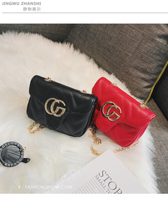 Fashion trend shoulder bag personality wild diagonal cross bag mini princess chest bag red