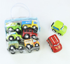 Children's toy car Pull back car model Mini car card engineering police car 6 bags per bag picture 4.5cm*6