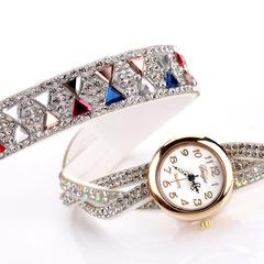 Duoya brand women's bracelet watch fashion color diamond diamond watch white average
