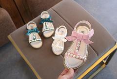 Korean Princess Sandals Pearl Kids Children Sandals Baby Beach Shoes pink 21