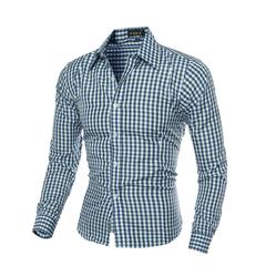 Cotton hot sales men's shirt is the men's fashion leisure shirt green m