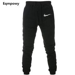 Men's fitness pants, men's casual pants, European and American sports pants black s