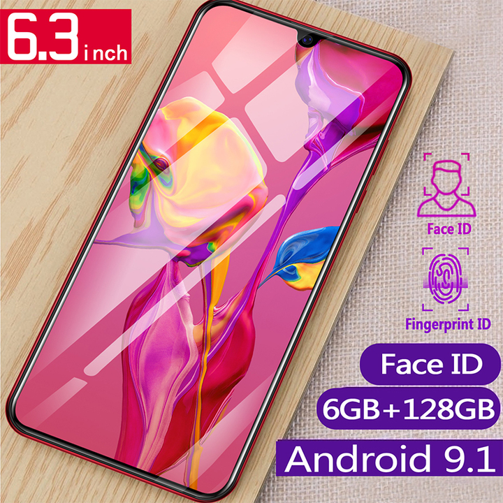 New Sailf Smart phone P35 Pro 128G+6G 16MP+8MP 2G/3G/4G Android smartphone Red